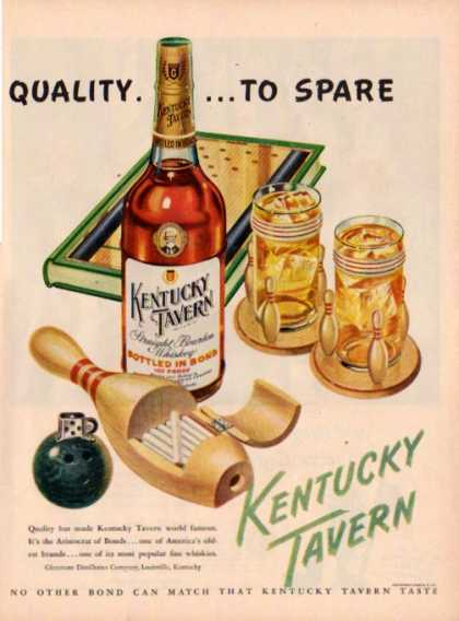 Kentucky Tavern Whiskey Bottle Bowling (1948)