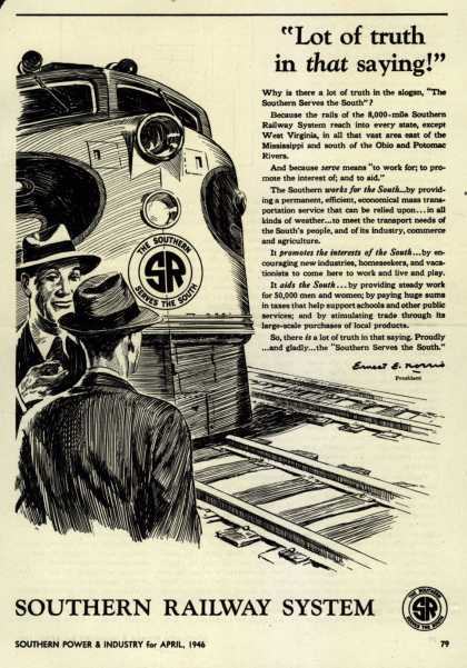 "Southern Railway System's Service to the South – ""Lot of truth in that saying!"" (1946)"