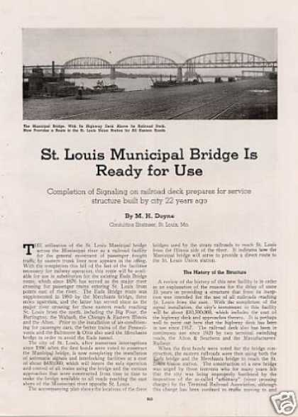"""St. Louis Municapal Bridge Ready for Use"" Article (1939)"