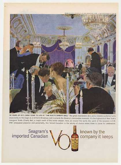 Broadway Rialto Charity Ball Seagrams VO Whisky (1960)