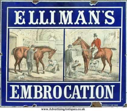 Elliman's Embrocation Sign