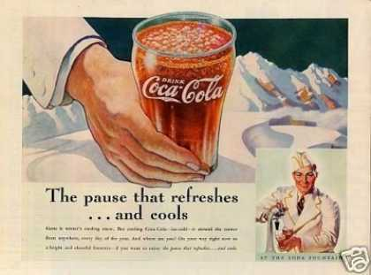 "Coca-cola Color Ad ""The Pause That Refreshes... (1937)"