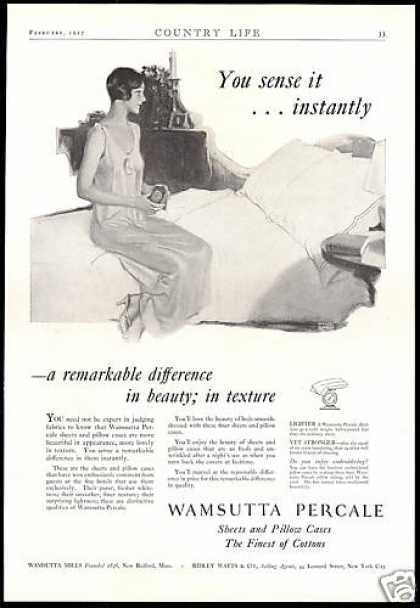 Wamsutta Mills Percale Sheets Pillow Cases (1927)