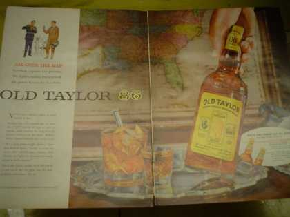 Old Taylor 86 Bourbon. Each the finest of its kind (1955)