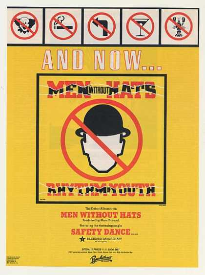 Men Without Hats Rhythm of Youth Debut (1983)