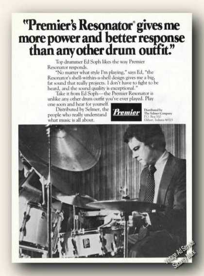 Ed Soph Photo Premier Resonator Drums Promo (1978)