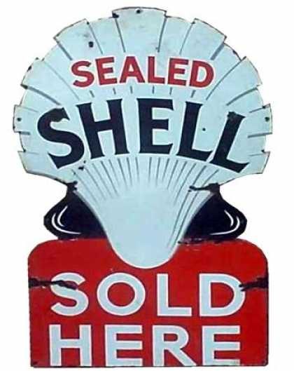 Shell Sealed Dye Cut Sign
