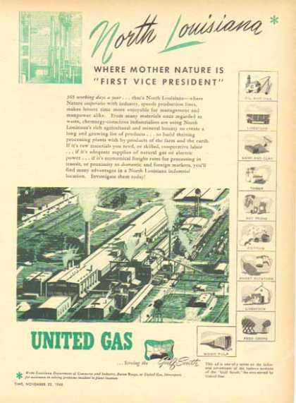 United Gas – N. Louisiana Where Mother Nature is First Vice President (1948)