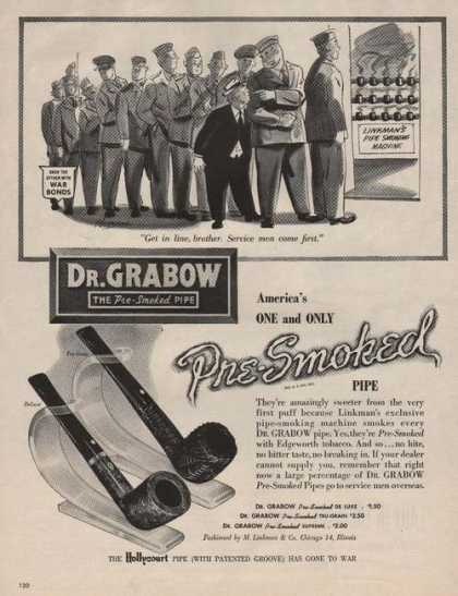 Dr Grabow Pre Smoked Pipe (1944)