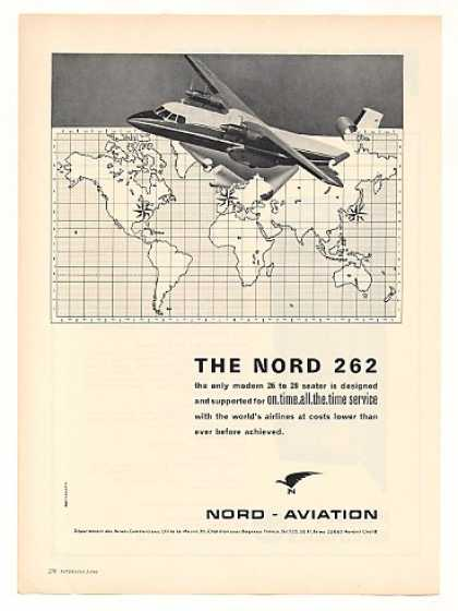 Nord Aviation 262 Airplane Aircraft (1966)
