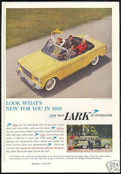 Yellow Studebaker Lark Convertible & Wagon (1960)