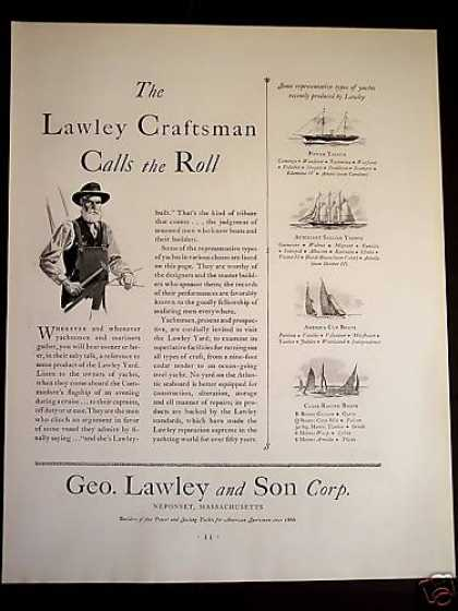 Geo. Lawley and Son Yachts Boats (1931)