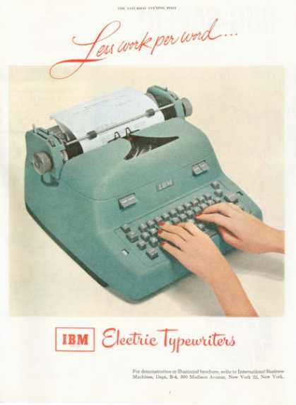 Ibm Electric Typewriter (1952)