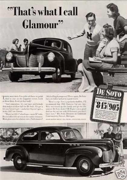 "Desoto Car Ad ""That's What I Call Glamour... (1940)"
