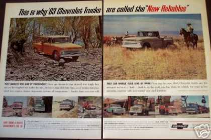 Chevrolet Trucks Pick-ups Baja Run 2pg Photo (1963)
