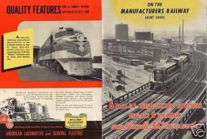 Alco/ge Locomotive Ad Manufacturers Ry Switchers (1942)