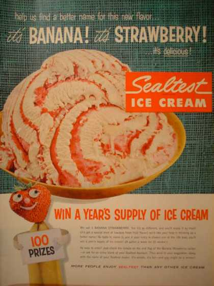 Sealtest Banana Strawberry Ice Cream (1957)