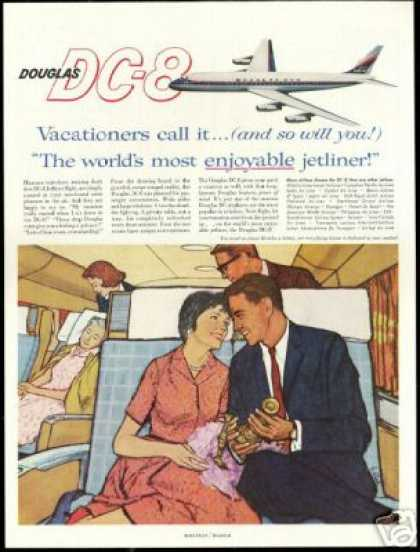 Douglas DC-8 DC8 Jetliner Airplane Candlesticks (1960)