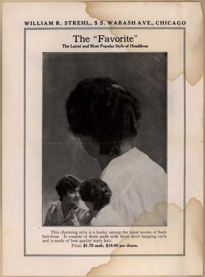 Wm. R. Strehl's Headdress – The Favorite (1917)