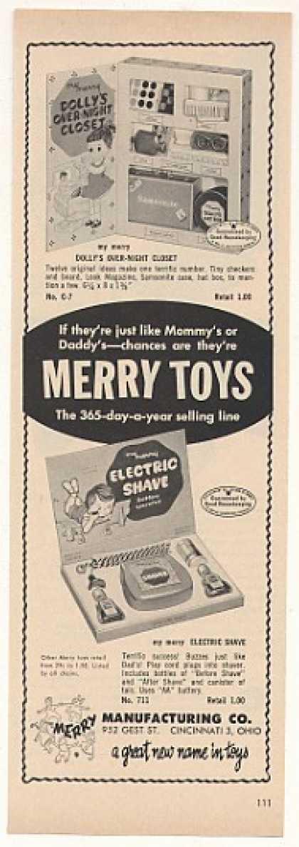 Merry Toys Dolly's Night Closet Electric Shave (1958)