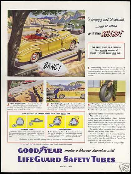 Goodyear Tire Safety Tubes Convertible Car (1949)