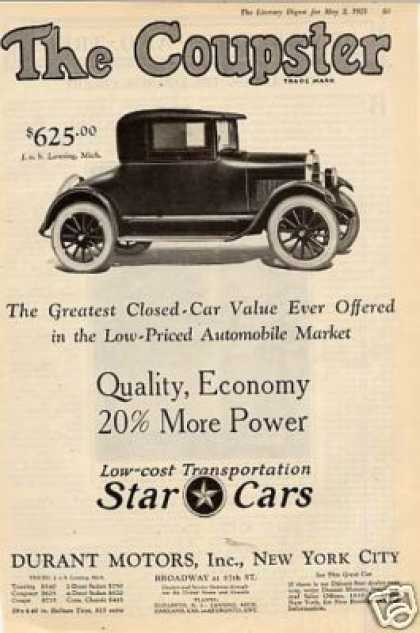Durant Motors Star Coupster (1925)