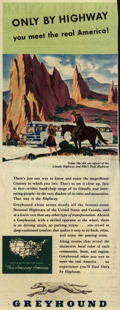 Greyhound – Only By Highway you meet the real America (1946)