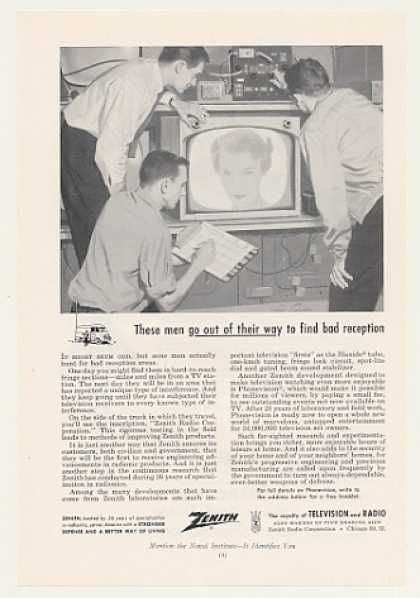 Zenith TV Field Testing Phonevision (1955)