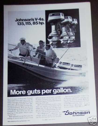 Johnson V-4 Outboard Boat Motors Photo (1973)