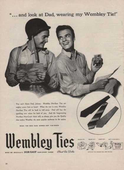 Wembley Ties Non Crush Fabric (1944)