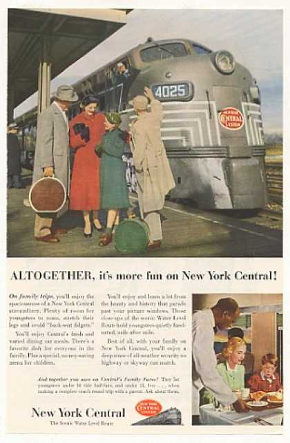 New York Central Streamliner Train Family Trip (1953)