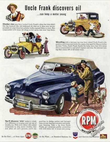 "Rpm Motor Oil ""Uncle Frank Discovers Oil"" (1947)"