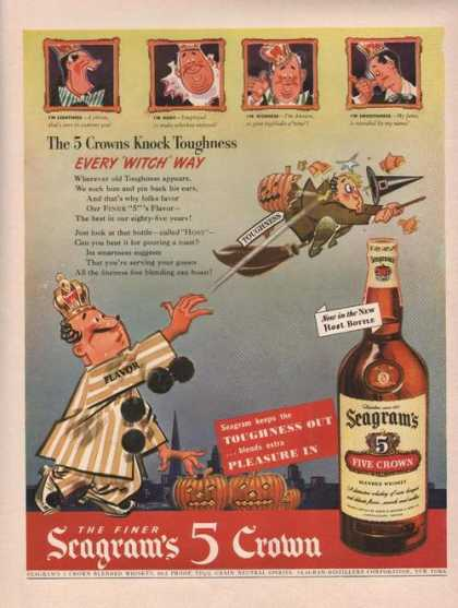 Seagrams 5 Five Crown Whiskey Cartoon (1942)
