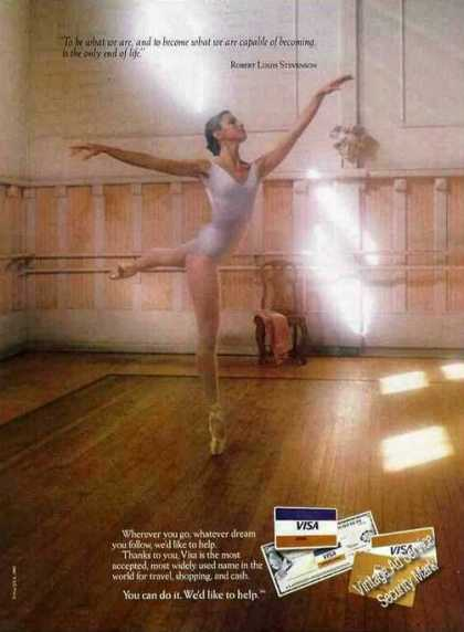 Beautiful Female Ballet Dancer Photo Visa (1982)