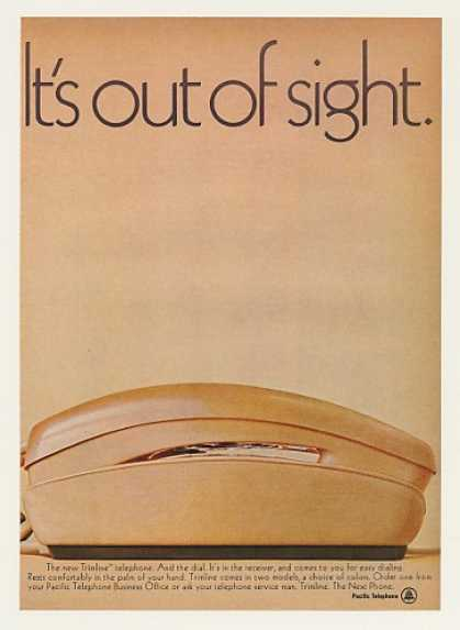 Pacific Telephone Trimline Phone Out of Sight (1969)