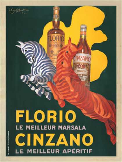 Florio e Cinzano by Leonetto Cappiello (1930)