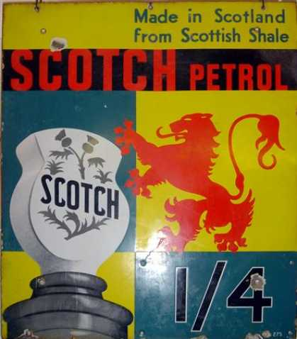 Scotch Petrol Enamel Sign
