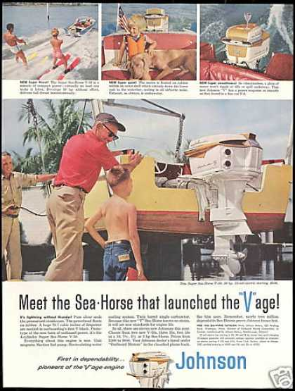 Johnson Super Sea Horse V50 Outboard Boat Motor (1958)