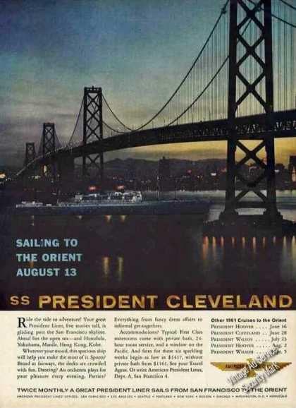 Ss President Cleveland San Francisco Bay Bridge (1961)