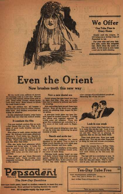 Pepsodent Company's Pepsodent Tooth Paste – Even the Orient (1922)