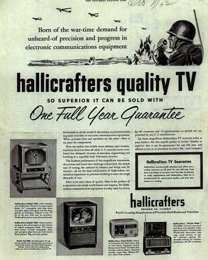 Hallicrafters Company's Various – Hallicrafters quality TV (1952)
