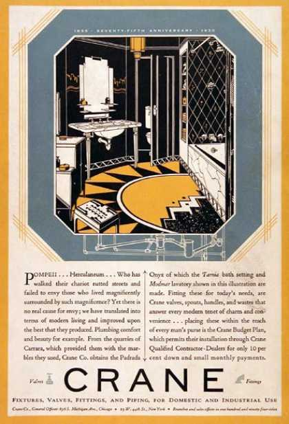 Crane Bathroom Fixtures (1930)