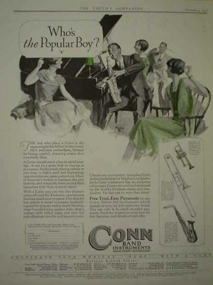 Conn Band Instruments Who's the populate boy? (1926)