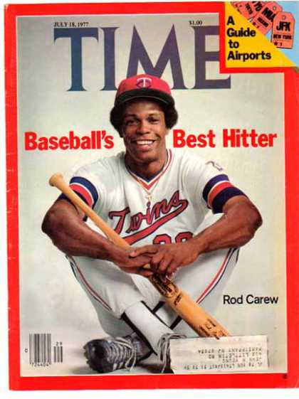Ron Carew Time Magazine Cover Page – Baseball's Best Hitter – Sold (1977)
