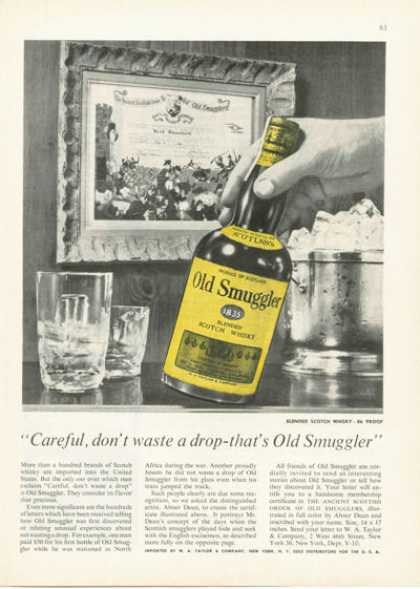 Old Smuggler Scotch Whiskey Bottle (1955)