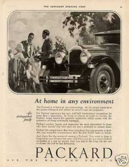 "Packard Car Ad ""At Home In Any... (1926)"
