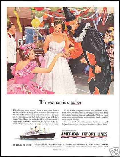 American Export Lines Cruise Ship Directress (1955)