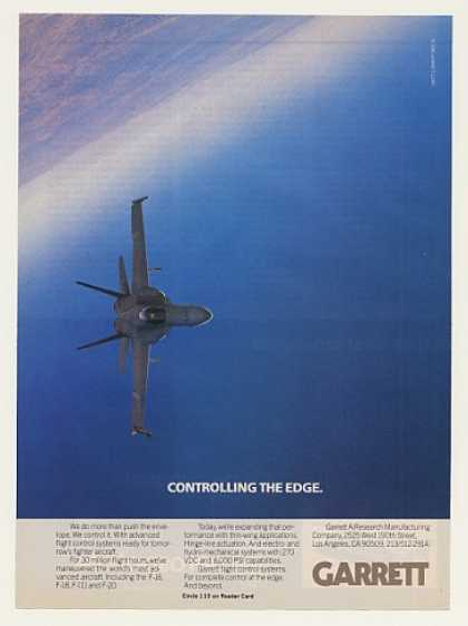 F-18 Aircraft Garrett Flight Control Sys Photo (1986)