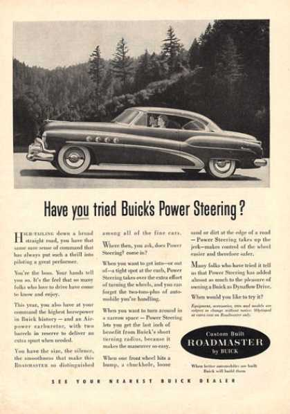 Buick Have You Tried Buick's Pwr Steering (1952)