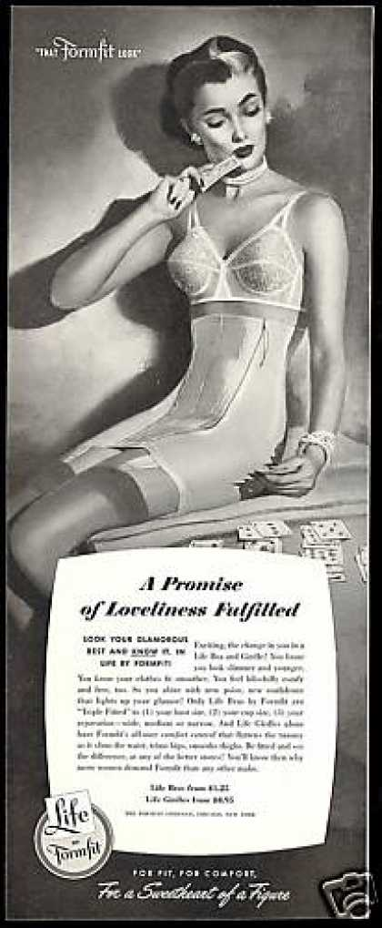 Formfit Lingerie Promise Fulfilled Bra Girdle (1952)